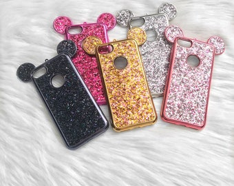 Mickey iPhone case, Disney phone case, Mouse ears iPhone case, Mickey Samsung, Glitter iPhone case, Bling iPhone case, Mickey phone case