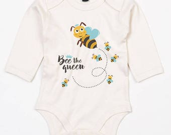 Cute baby onesie-Bee the queen with cute bees