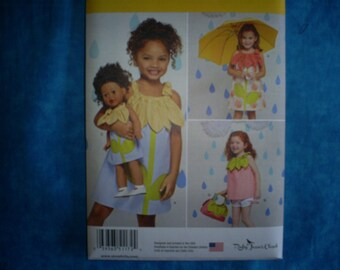 Simplicity 1172 Girl Size 3 - 8 with matching 18 inch doll dress. AG