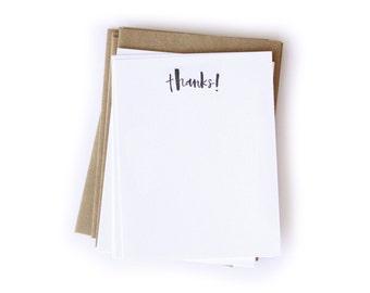 Thanks! Letterpress Notecard Set