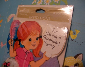 sweet package of  party invitations