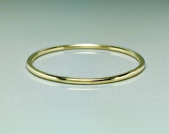14k Real Gold Thin Ring - 14k 10k Gold bands - Ladies Simple Gold Rings - Skinny gold Rings - Minimalist Rings - Gold Stack Ring