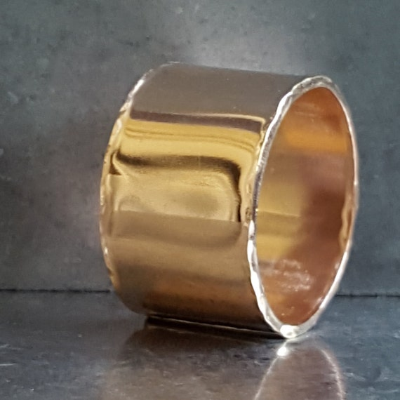 Wide Gold Ring Statement Ring Smooth Band Ring Women