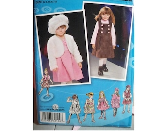 Simplicity Pattern 2828 - Girl's Project Runway Dress, Hat and Jacket Pattern - Uncut