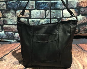Repurposed leather, recycled leather bag,upcycled leather,upcycled bag ,leather bag,leather Hobobag ,leather slouch bag ready to ship