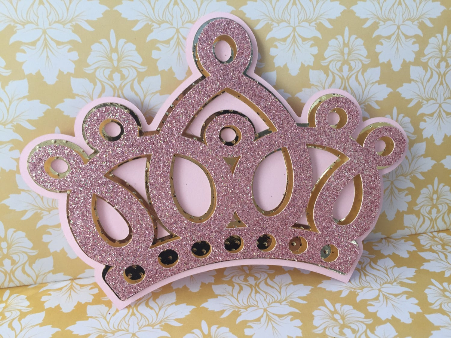 Princess Crown invitations 25 pink and gold princess Crown