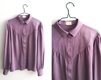 Purple romantic blouse - 1980