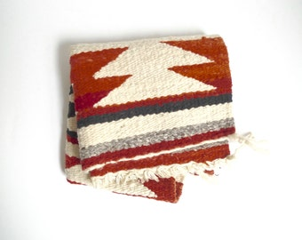 SALE - Vintage Navajo Gallup Throw - Small Navajo Rug with Geometric Design, Southwestern Rug, Native American Textile, Indian Weaving