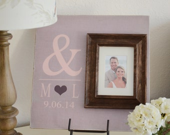 Personalized Wedding Gift, Wedding Picture Frame, Wedding Sign, Wedding Gift, Personalized Frame, Baby Frame
