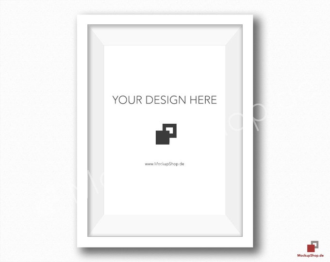 5x7 WHITE FRAME MOCKUP / White Wall / Frame Mockup /  White Photo Frame Mockup / Instand Download / FrameMockup / Mock Up Frame