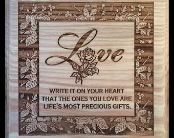Love Write it on Your Heart Plaque