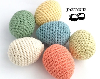 Egg Crochet Pattern / Crochet Egg Pattern / Crochet Easter Decoration Easter Crochet Pattern / Suitable for Beginners / Twig Tree Ornaments