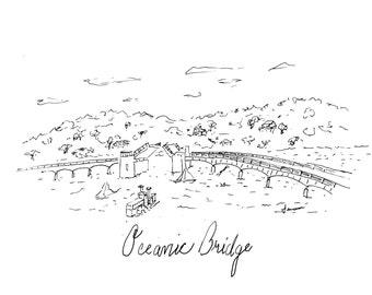 Oceanic Bridge from Rumson to Navisink New Jersey