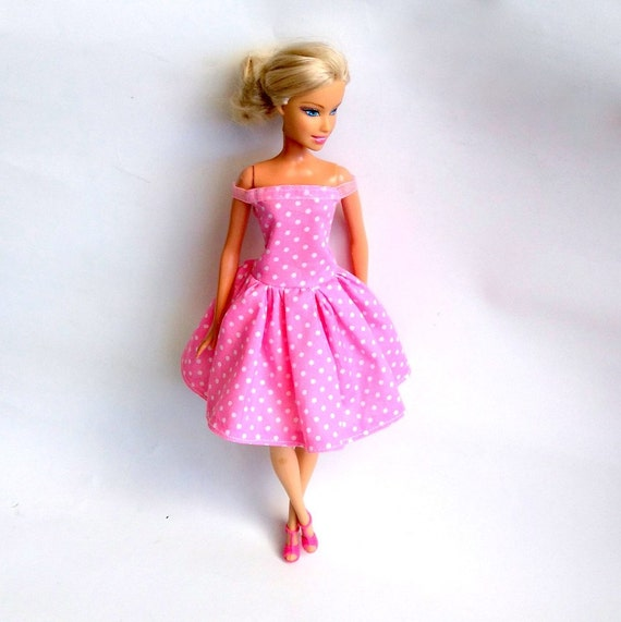 Barbie Doll Clothes Barbie Pink Dress Barbie Summer Dress