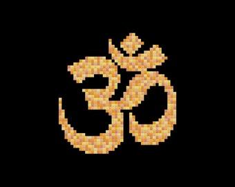 Om Symbol Cross Stitch Pattern PDF Digital Download