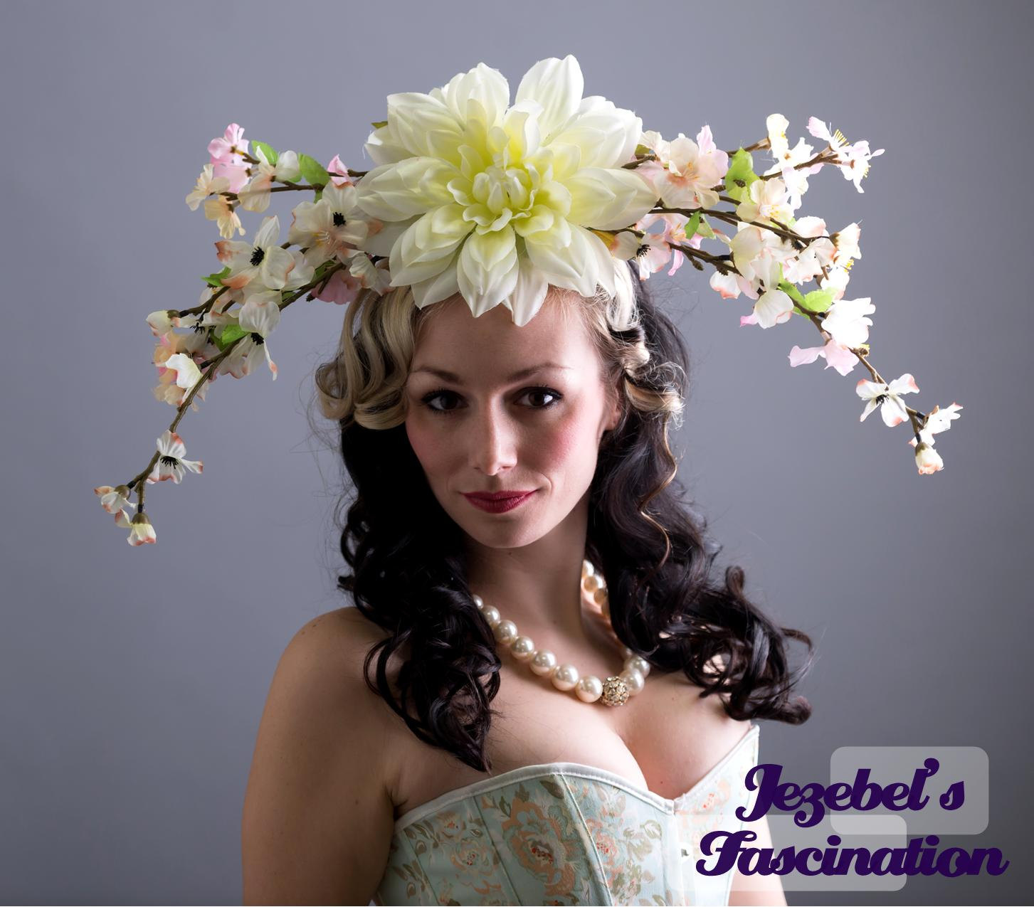 Large cherry blossom mother nature derby headdress spring zoom izmirmasajfo Images