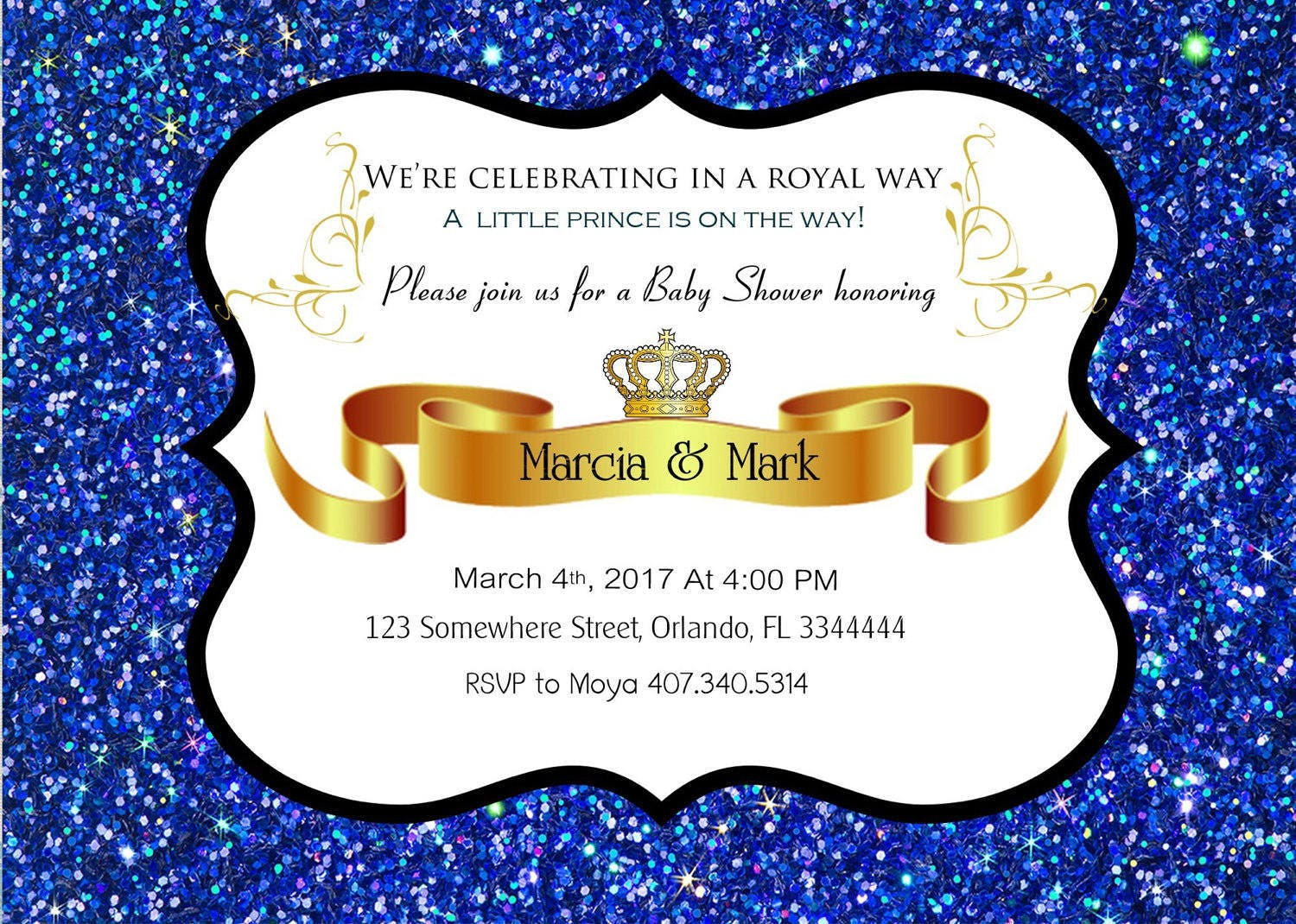 Little Prince Baby Shower Invitation, Prince Baby Shower, royal baby ...