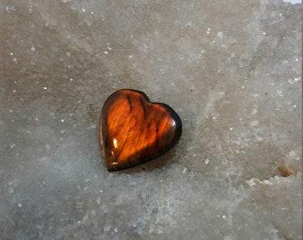 Labradorite gold bronze 24.98 Gr-heart