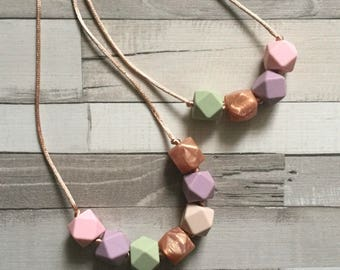 Big Sister and Mummy matching Teething Necklaces