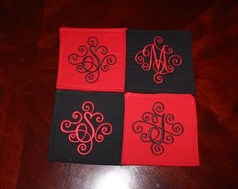 Embroidered Fabric Coasters
