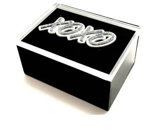 XOXO Acrylic Lucite Box