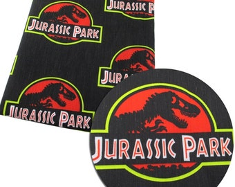 jurassic park poliester and cotton print