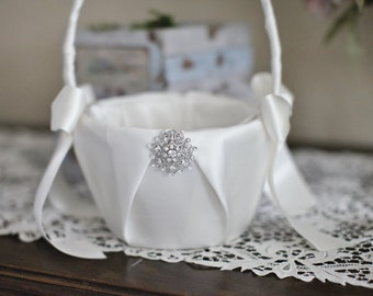 Vintage Flower Girl Basket