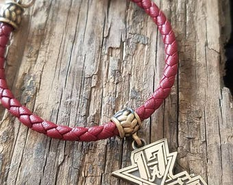 University of Alabama Football National Championship Jewelry, Leather Bracelet, Charm, Crimson Roll Tide, Bama, Officially Licensed, NCAA