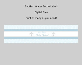 Baptism Water Bottle Label - You Print as many as you need!
