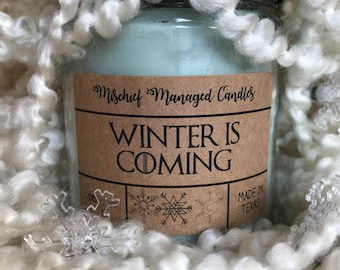 Winter is Coming Soy Wax Candle
