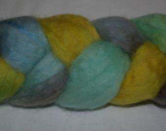 BFL/silk multicolored spinning or felting - 94g
