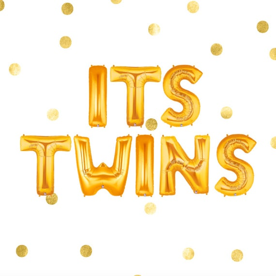 Its Twins Balloon Banner Twins Baby Shower Twins Shower