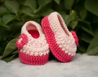 Baby Girl Flower Shoes, Girl Shoes, Baby Girl Shoes, Girl Booties, Crochet Girl Shoes, Newborn Girl Shoes, Hot Pink Shoes, Pink Shoes