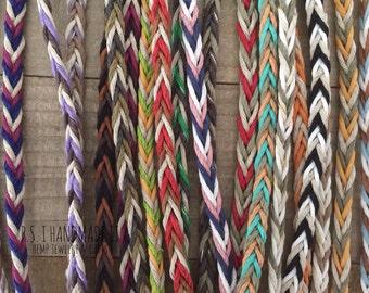 Three Color - Tie On - Chevron Friendship Bracelets - Kids to Adult Sizes.