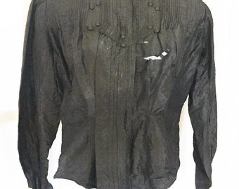 1890s Victorian mourning blouse cosplay costume