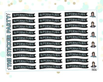 Supernatural TV Show Planner Stickers Supernatural Planner Stickers