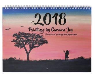 2018 Wall Calendar: Whimsical Paintings; Art Calendar