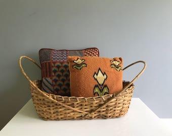 Large Rattan Basket / Woven Rattan Basket / Rattan Bassinet