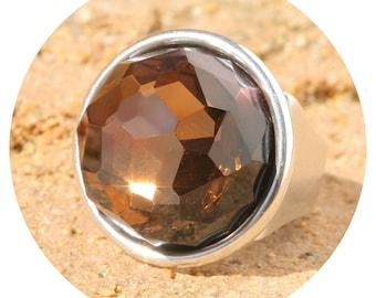 Artjany Ring Smoked Topaz Silver