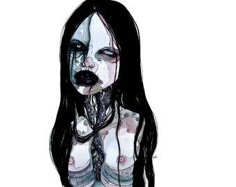 """Dark Art Print by Yureiwomb- """"Fragile"""""""