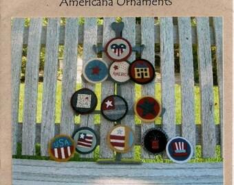 Americana Ornaments wool pattern by Under the Garden Moon