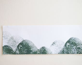 Painting on watercolour paper - 16 Shades of Green/No. 1