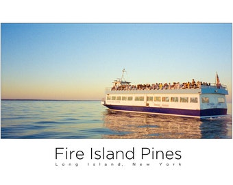 Fire Island Pines Mini-Poster - Ferry