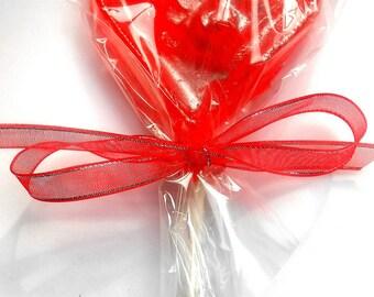 Rock Sugar Candy Brandied Cherry Lollipops Valentine I Love You Offering (2)