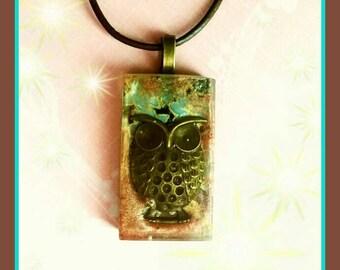Sunshine Series Owl Pendant Necklace