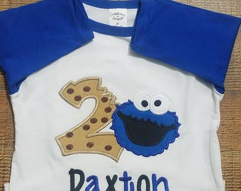 Fast Shipping!!! Cookie Monster Shirt/ Cookie Monster Birthday/ Cookie Monster Theme/ Sesame Street Birthday/ Cookie Shirt