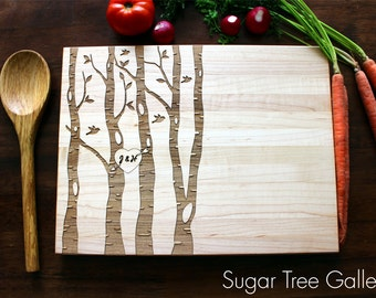 Personalized Cutting Board, Custom Cutting Board, Engraved Cutting Board, Gift For Her, Tree Cutting Board, Family Tree, Christmas, Husband