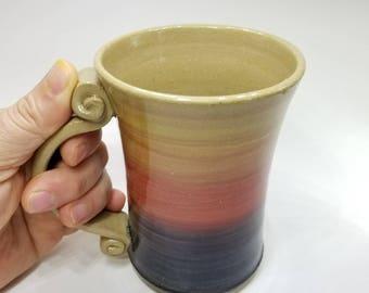 Wheel thrown pottery mug, Big mug, Unicorn mug, Stoneware coffee mug, Handmade pottery mug, Quality made mug, Mothers day gift