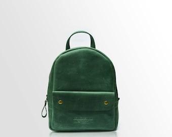 Small backpack, leather backpack, womens backpack, leather rucksack, vintage backpack, handmade backpack, backpack leather, mens backpack