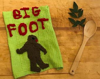 Big Foot Sasquatch Lodge Folklore Kitchen Towel Tea Towel